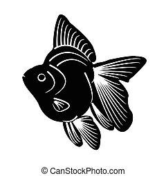 fish, シルエット