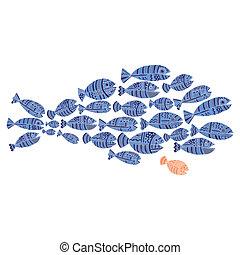 fish, テンプレート