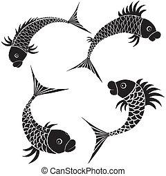 fish, デザイン, スケッチ, アイコン