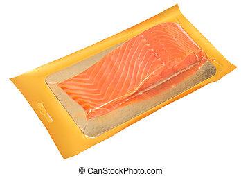 fish, パックされた, 赤