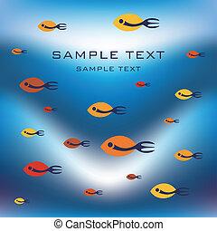 fish, ファンキーである, design.