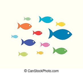 fish, ベクトル, イラスト, アイコン