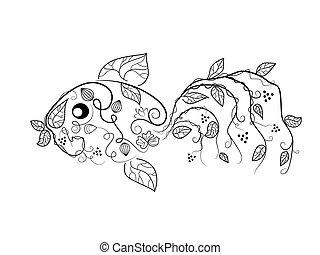 fish, ベクトル