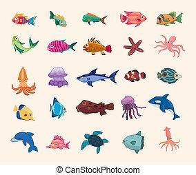 fish, 卡通, 圖象