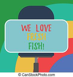 fish., 愛, 写真, ステッカー, 私達, 形, ブランク, 芸術, 恋人, 料理, 執筆, 料理の, chair., テキスト, 概念, 旋回装置, ビジネス, モデル, 食物, 提示, 手, 海洋, 健康, シーフード, 長方形, 新たに
