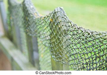 fish, 木, 網, フェンス
