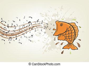 fish, 歌うこと
