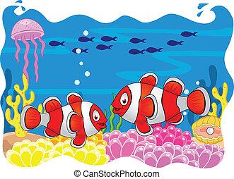 fish, 漫画, ピエロ