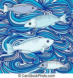 fish, 背景