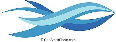 Fish abstract logo