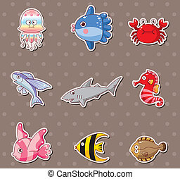 fish, adesivi