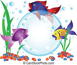 Fish advertisement - Fun cartoon colorful fish advertisement...