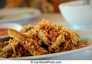 fish, aglio