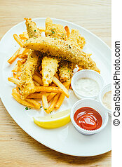 fish and chip with french fries