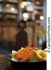 Fish and chips , british food