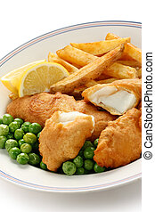 fish and chips, british food - fish and chips, a traditional...