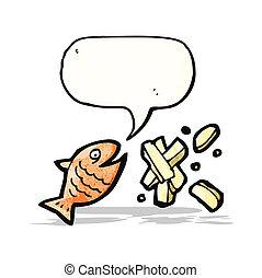 fish and chips cartoon