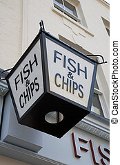 Fish and Chips, Sign in Bishopsgate, London