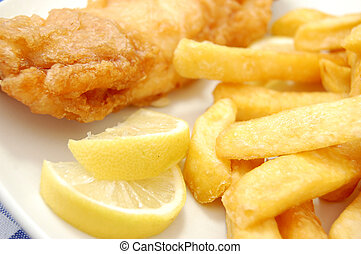 Traditional english fish and chips