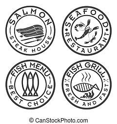fish and seafood bbq set