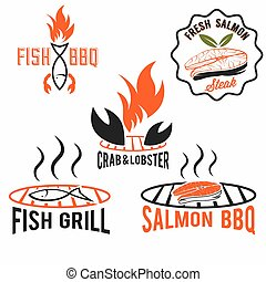 fish and seafood bbq set