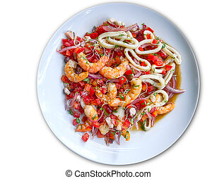 fish and seafood ceviche from Mexico - shrimp fish and...