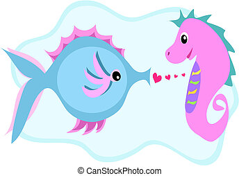 Fish and Seahorse Love Connection