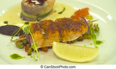 Fish and vegetables - ready dish
