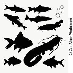 Fish animal silhouette