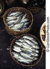 Fish at Cambodian market- Phnom Penh, Cambodia