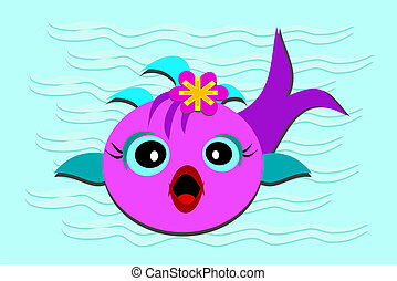 Fish Baby with Opened Mouth