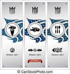 fish, bandiere
