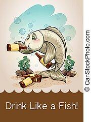 fish, bere, alcool, ubriaco