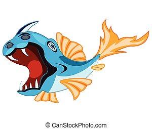 fish, bianco, coccio di terracotta