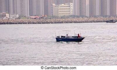 fish boat in Hong Kong