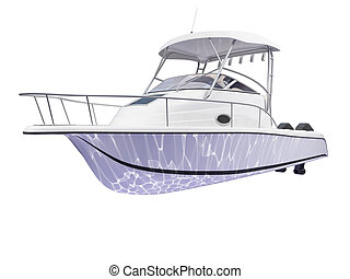 fish ship on a white background