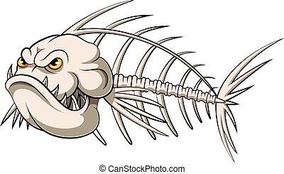 fish bone mascot