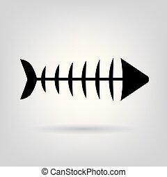 fish bone skeleton icon