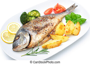 fish, brème mer