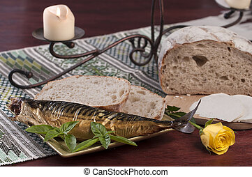 fish, bread