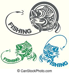 fish carp and fishing logo
