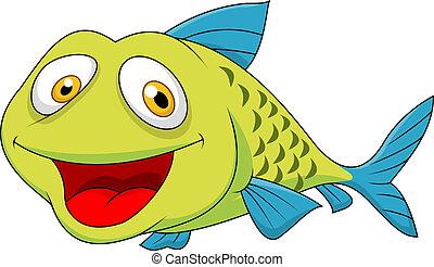 fish, cartone animato, carino