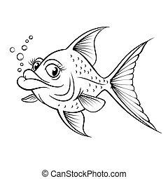 fish, cartone animato, disegno