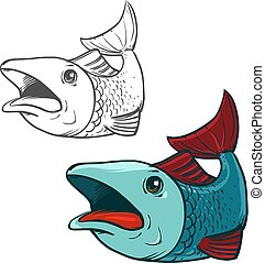 fish cartoon color