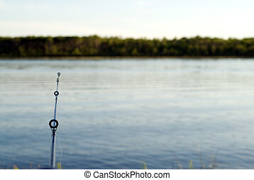 Fish Casting - Somebody casting a line to catch fish in a...