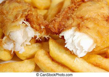 fish, chips