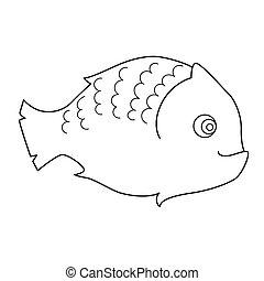 fish, coloration, page, enfants