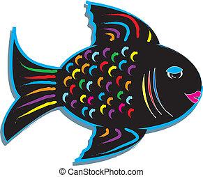 fish, conception, coloré