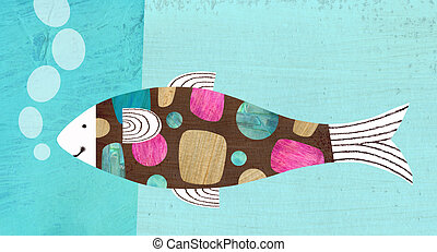 Fish - Contemporary illustration of a fish