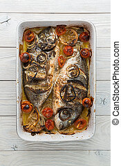 fish cooked in the oven
